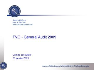 FVO - General Audit 2009