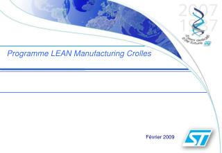 Programme LEAN Manufacturing Crolles