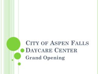 City of Aspen Falls Daycare Center