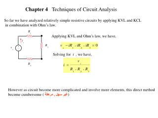 Chapter 4    Techniques of Circuit Analysis