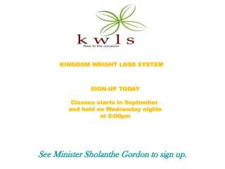 KINGDOM WEIGHT LOSS SYSTEM