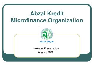 Abzal Kredit Microfinance Organization