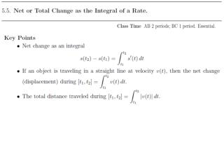 THEOREM  1    Net  Change as the Integral of a Rate