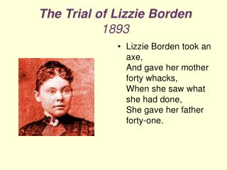 The Trial of Lizzie Borden  1893