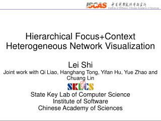 Hierarchical Focus+Context Heterogeneous Network Visualization Lei Shi