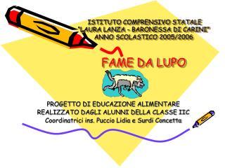 PROGETTO DI EDUCAZIONE ALIMENTARE REALIZZATO DAGLI ALUNNI DELLA CLASSE IIC