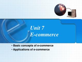 Unit 7   E-commerce