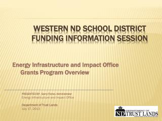Western ND School district funding information session