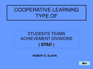 COOPERATIVE LEARNING TYPE OF