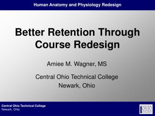 Better Retention Through Course Redesign