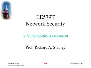 EE579T Network Security 3: Vulnerability Assessment