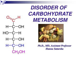 DISORDER OF CARBOHYDRATE  METABOLISM