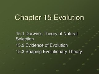 Evidence and Mechanisms of Evolution