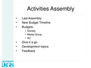 Activities Assembly