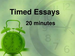 Timed Essays