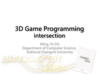 3D Game Programming intersection