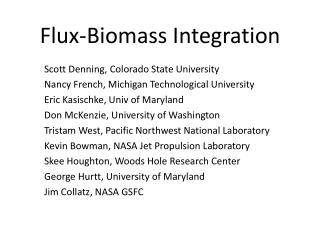 Flux-Biomass Integration