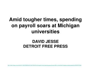 Amid tougher times, spending on payroll soars at Michigan universities