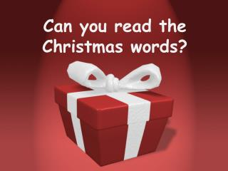 Can you read the Christmas words?