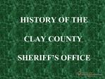 Clay County Sheriffs