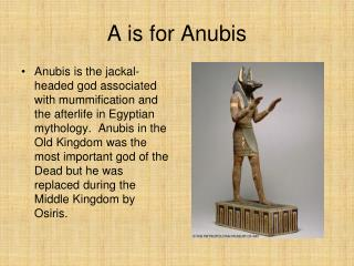 A is for Anubis