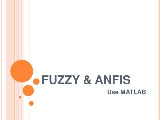 FUZZY & ANFIS