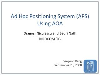 Ad Hoc Positioning System (APS) Using AOA