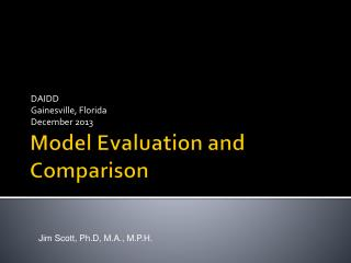 Model Evaluation and Comparison