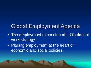Global Employment Agenda