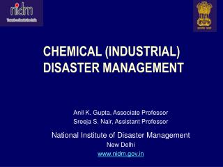 CHEMICAL (INDUSTRIAL)  DISASTER MANAGEMENT