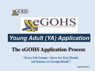 The eGOHS Application Process