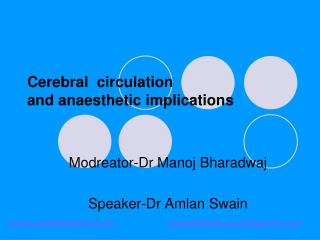 Cerebral  circulation and anaesthetic implications
