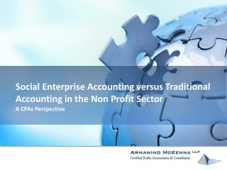 Social Enterprise Accounting versus Traditional Accounting in the Non Profit Sector