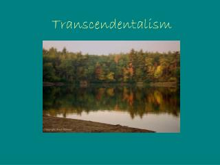 an analysis of the description of emersons transcendentalism as a romantic transcendentalism Transecendentalism the transcendentalism was intimately connected with concord for the romantic american writer, nothing was a given.
