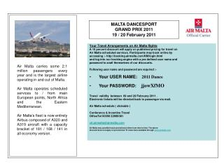 Your Travel Arrangements on Air Malta flights