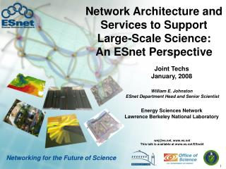 Network Architecture and Services to Support Large-Scale Science: An ESnet Perspective