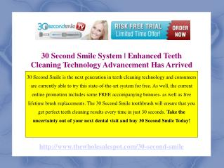 30 Second Smile Toothbrush