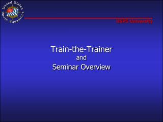 Train-the-Trainer and