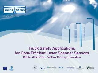Truck Safety Applications  for Cost-Efficient Laser Scanner Sensors