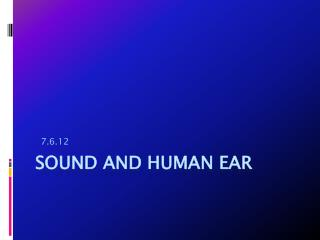 Sound and human ear