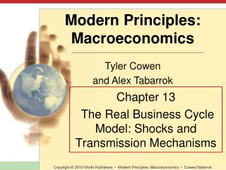 Chapter 13  The Real Business Cycle Model: Shocks and Transmission Mechanisms