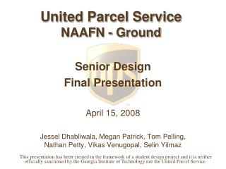 United Parcel Service   NAAFN - Ground