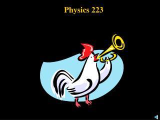 Physics 223