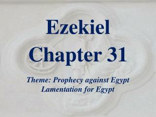 Ezekiel  Chapter 31