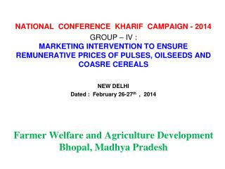 NATIONAL  CONFERENCE  KHARIF  CAMPAIGN - 2014