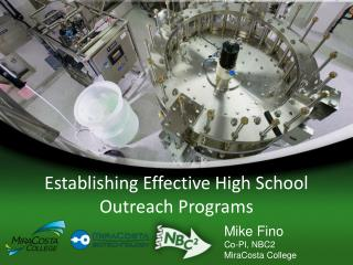 Establishing Effective  High School Outreach  Programs