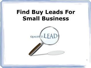 Find Buy Lead for Small Business