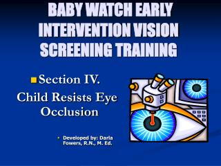 BABY WATCH EARLY INTERVENTION VISION SCREENING TRAINING