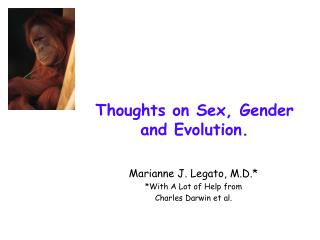 Thoughts on Sex, Gender and Evolution.