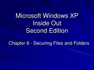 Microsoft Windows XP Inside Out Second Edition